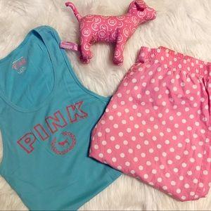 PINK Victoria's Secret tank & sleep/lounge pants